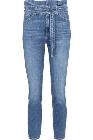 adidas High-rise skinny paperbag jeans
