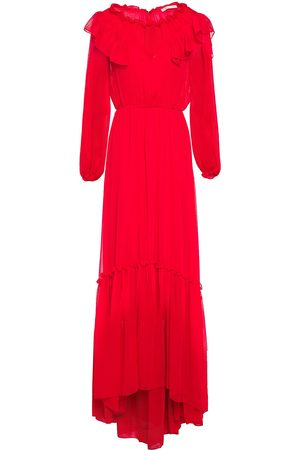 Maje Woman Rachana Ruffled Gathered Georgette Gown Size 38