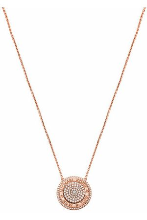 adidas Necklaces - 14k Gold-Plated Pavé Focal Pendant Necklace - - Necklaces for ladies