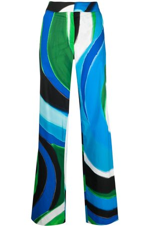 adidas Painterly-print flared trousers