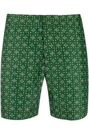 adidas Geometric swim shorts