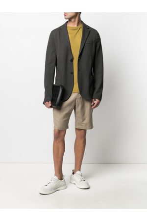 adidas Single-breasted cotton blazer