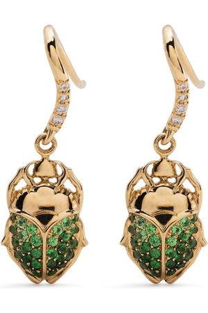 adidas 18kt yellow Scarab tsavorite and diamond earrings