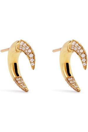 adidas 18kt yellow small Talon diamond earrings
