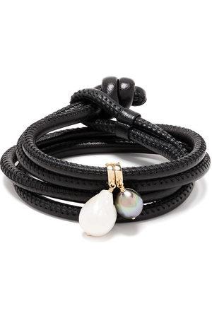 adidas 14kt yellow pearl wrap bracelet