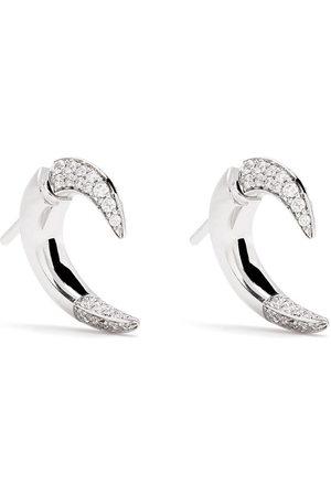 adidas 18kt white gold small Talon diamond earrings