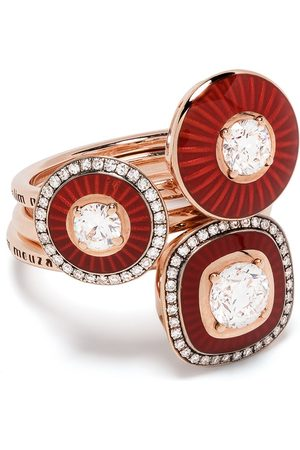 adidas 18kt rose gold Mina diamond ring set