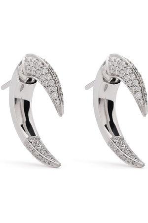 adidas 18kt white gold Talon diamond earrings