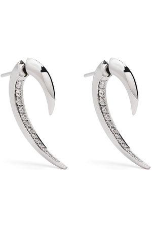 adidas 18kt white gold Hook diamond earrings