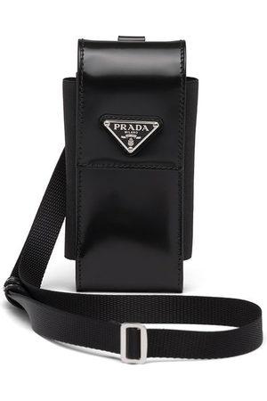 adidas Triangle-logo leather phone case