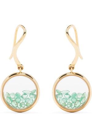 adidas 18kt yellow emerald Chivor earrings