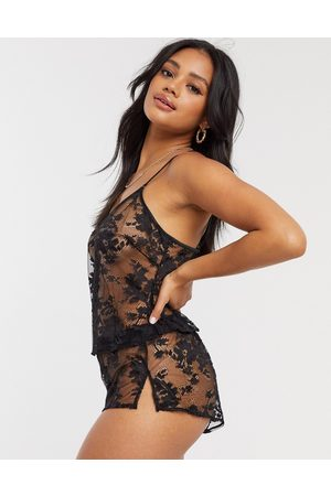 adidas Dark Hours lace cami and short set in