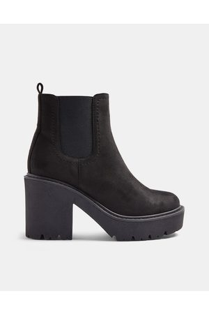 Topshop Chunky heeled chelsea boots in