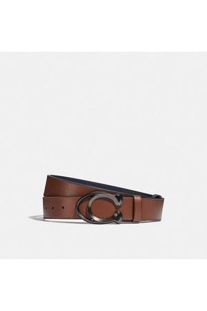 Coach Signature Buckle Cut-to-size Reversible Belt, 38mm in Multi - Size 42