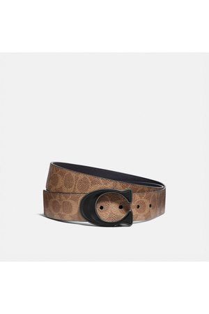 Coach Signature Buckle Cut-to-size Reversible Belt, 38mm in - Size 42