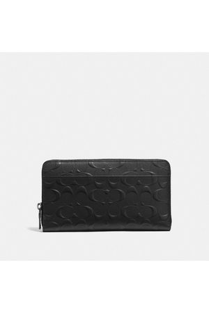 Coach Document Wallet In Signature Leather in