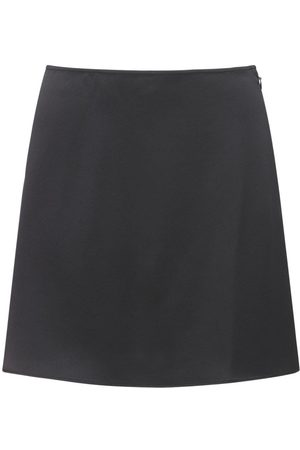 The Andamane Women Mini Skirts - Giada Envers Satin Mini Skirt