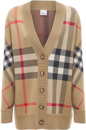 Burberry Women Cardigans - Caragh Wool Blend Check Cardigan