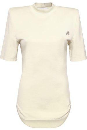 The Attico Tessa Cotton Jersey T-shirt W/front Logo