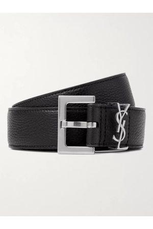 Saint Laurent 3cm Full-Grain Leather Belt