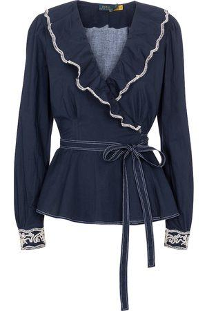 Polo Ralph Lauren Cotton wrap blouse