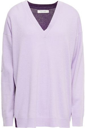 Chinti & Parker Women Jumpers - Woman Two-tone Wool And Cashmere-blend Sweater Lilac Size S
