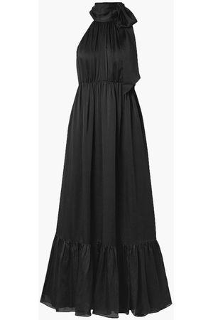 ZIMMERMANN Woman Gathered Silk-satin Halterneck Maxi Dress Size 0