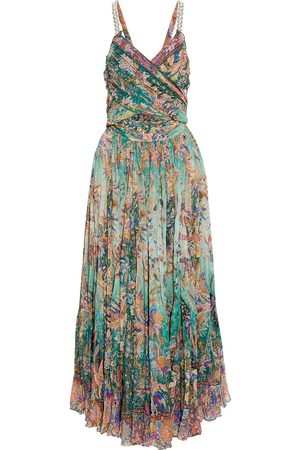 Etro Woman Crossover Embellished Printed Silk-georgette Maxi Dress Size 38