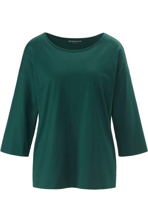 Green Cotton Top in 100% cotton 3/4-length sleeves size: 12