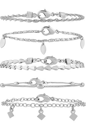Accessorize 5x Delicate Chain Bracelet Pack