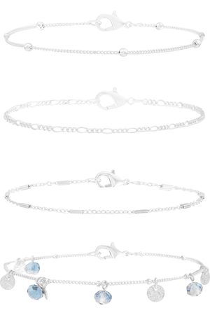 Accessorize Ladies Chain Anklet Multipack