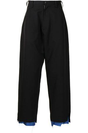 Sulvam Wide-leg wool trousers