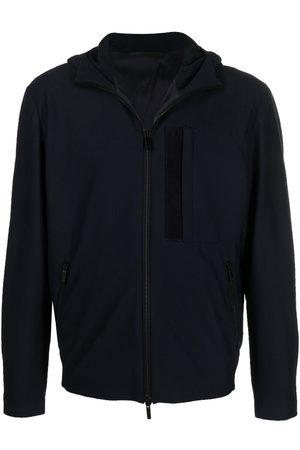 Armani Hooded zip-up track jacket