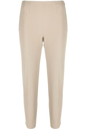 PT01 Cropped slim-fit trousers - Neutrals