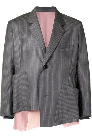 Sulvam Striped boxy blazer