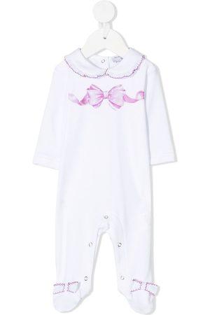 MONNALISA Bow-print cotton pajamas
