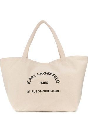 Karl Lagerfeld Logo-print tote bag - Neutrals