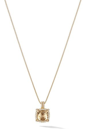 David Yurman Women Necklaces - 18kt yellow gold Châtelaine citrine and diamond pendant - 88ACCDI