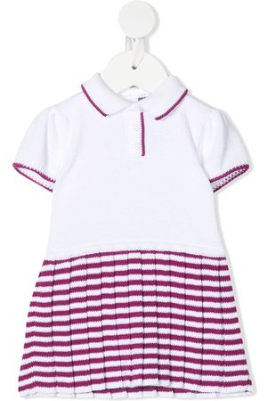 LITTLE BEAR Stripe-print knit dress
