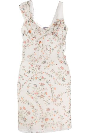 Dior 2000s pre-owned floral sheer dress - Neutrals