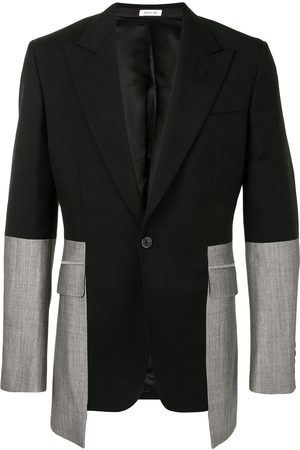 Alexander McQueen Two-tone single-breasted suit jacket