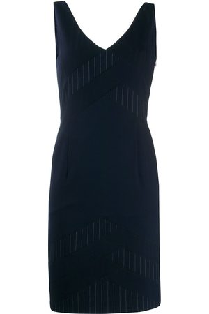 Dior 2000s pre-owned pinstripe panel dress
