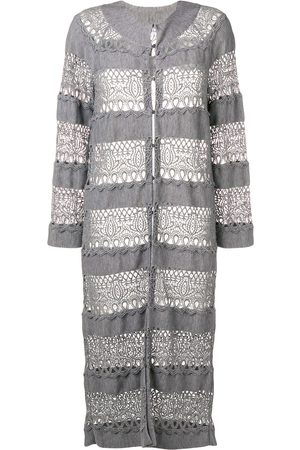 Dior 2010s pre-owned lace knit longline cardigan
