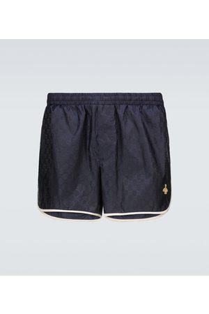 Gucci Men Swim Shorts - GG nylon swim shorts