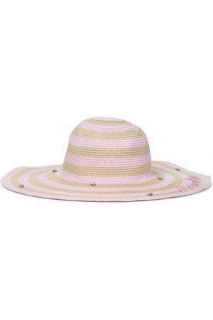 MONNALISA Embellished striped straw hat