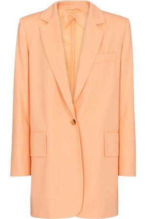 Max Mara Marsala cotton and gabardine blazer