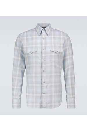 Tom Ford Western checked shirt