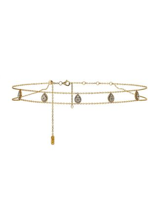 DJULA Yellow Gold and Diamond Marquise Choker Necklace