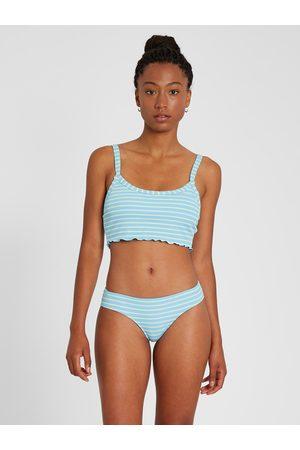 Volcom Women Bikinis - Women's Next In Line Crop Bikini Top - Coastal