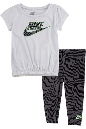 Nike Younger Girls 2 Piece Tunic Top And Leggings Set